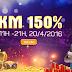Nạp thẻ cào game ionline khuyến mại 150%