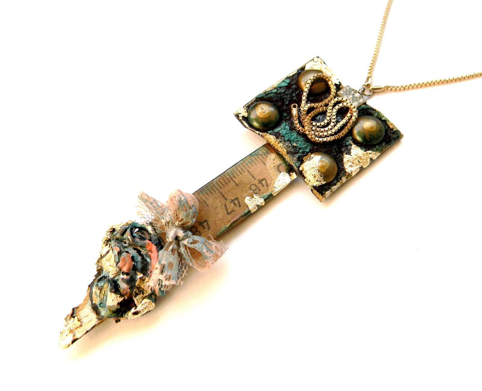 Handmade Necklace steampunk Industrial Chic Art Jewelry