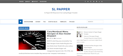 sl papper blogger template