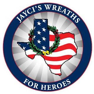 Jayci's Wreaths for Heroes Logo, Wreaths for Heroes, Wreaths Across America
