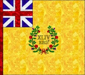 44th Regiment of Foot (James Abercromby) Regimental Colour