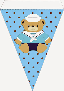 Cute Sailor Bear Free Printable Bunting.