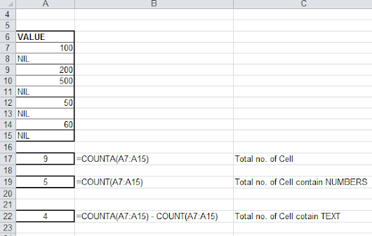 Count the Cells in Excel which are not blank | TECH GNAN
