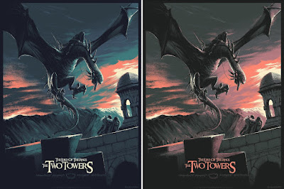 Lord of the Rings The Two Towers Screen Print by Juan Esteban Rodriguez x Bottleneck Gallery - Regular & Variant Editions