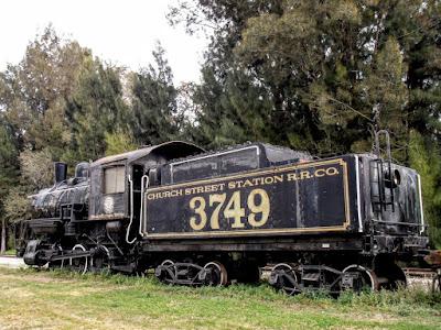 Locomotora en el museo del ferrocarril