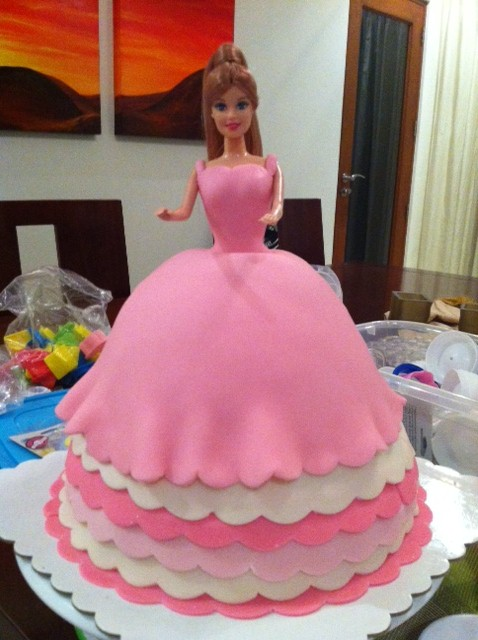 Joys Of A Mom Barbie Doll Cake