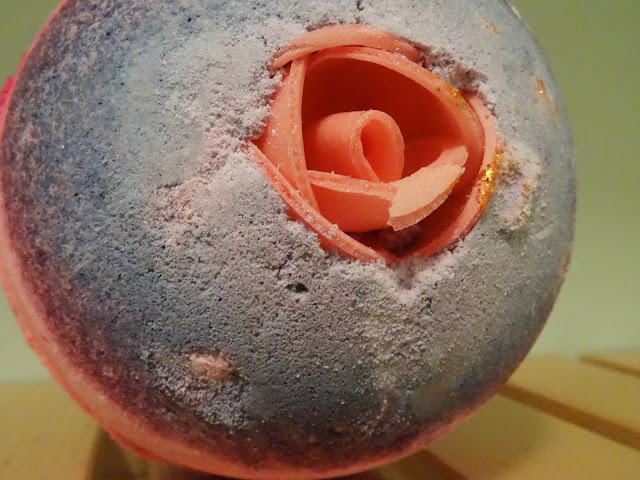 Close up of sex bomb bath bomb