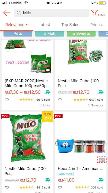 Shopee ad appearance on mobile (2)