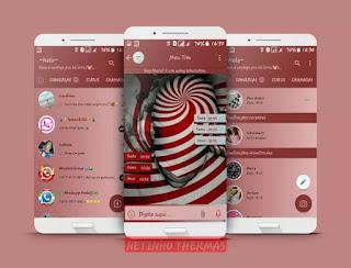Red Round Theme  For YOWhatsApp & Fouad WhatsApp By Netinho Silva