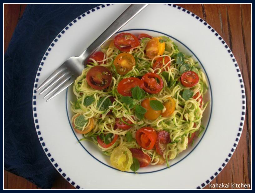 Kahakai Kitchen Jamie Olivers Zucchini Spaghetti With Sweet