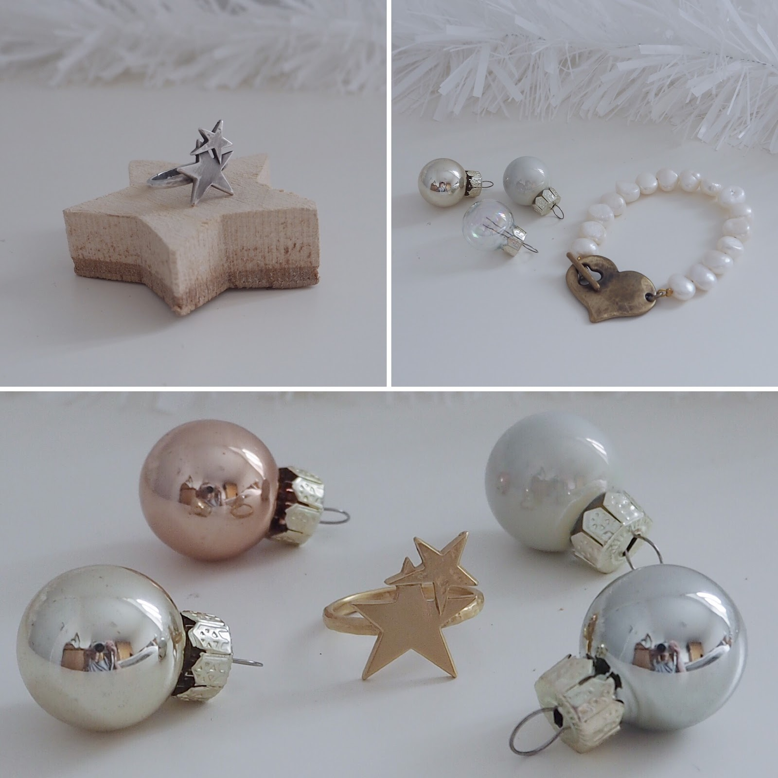 Christmas gift ideas for women over 40. Danon jewellery, pearl necklace,star ring