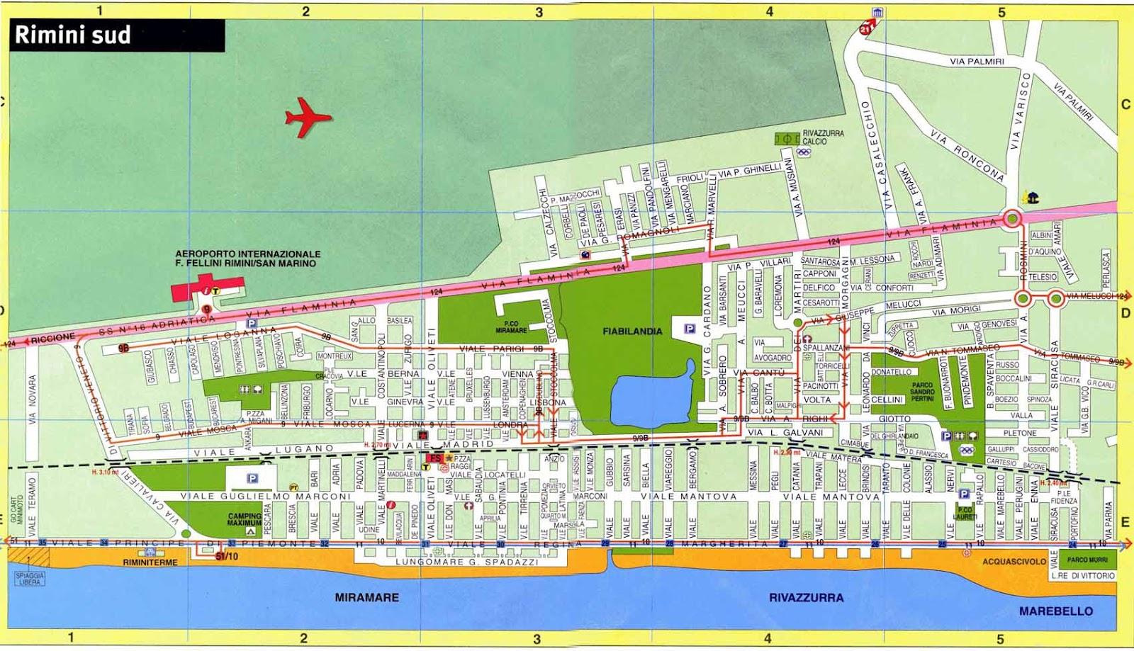 rimini térkép Rimini Direct Connection: Rimini térkép rimini térkép