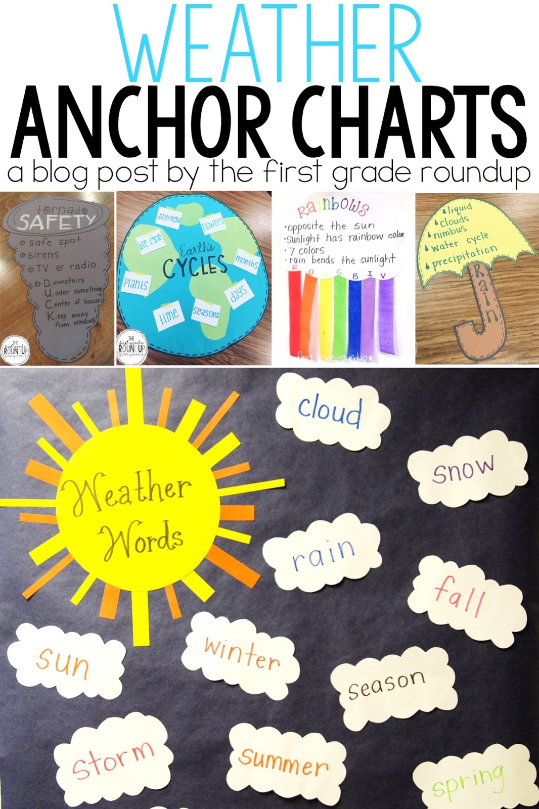 weather anchor chart roundup firstgraderoundup