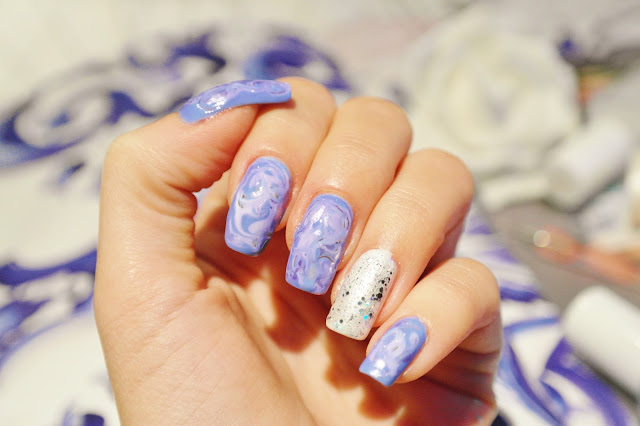 how to marble nail art