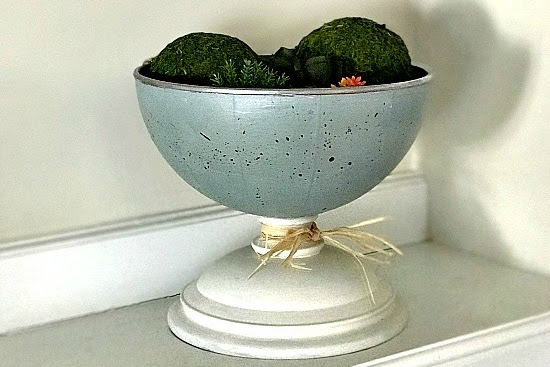 DIY Robin's Egg Blue Spring Pedestal Dish