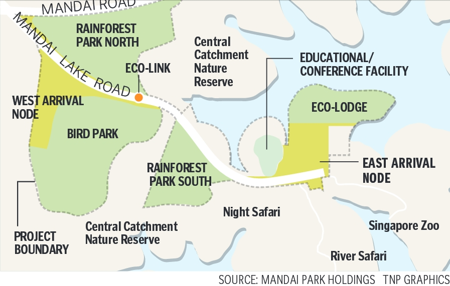 Masterplan of the Mandai rejuvenation project. (Image: Mandai Park Holdings)