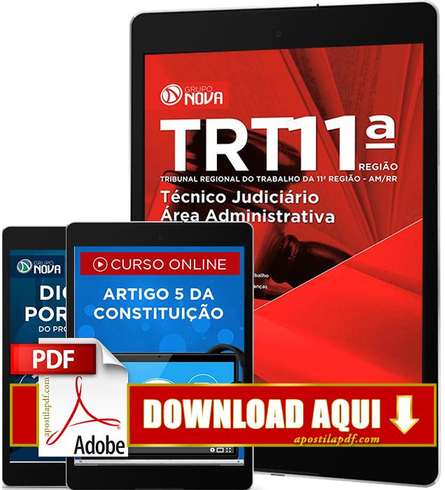 Apostila TRT 11 2016 PDF Download Técnico Judiciário Área Administrativa