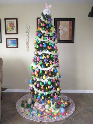 árbol de pascuas muy colorido