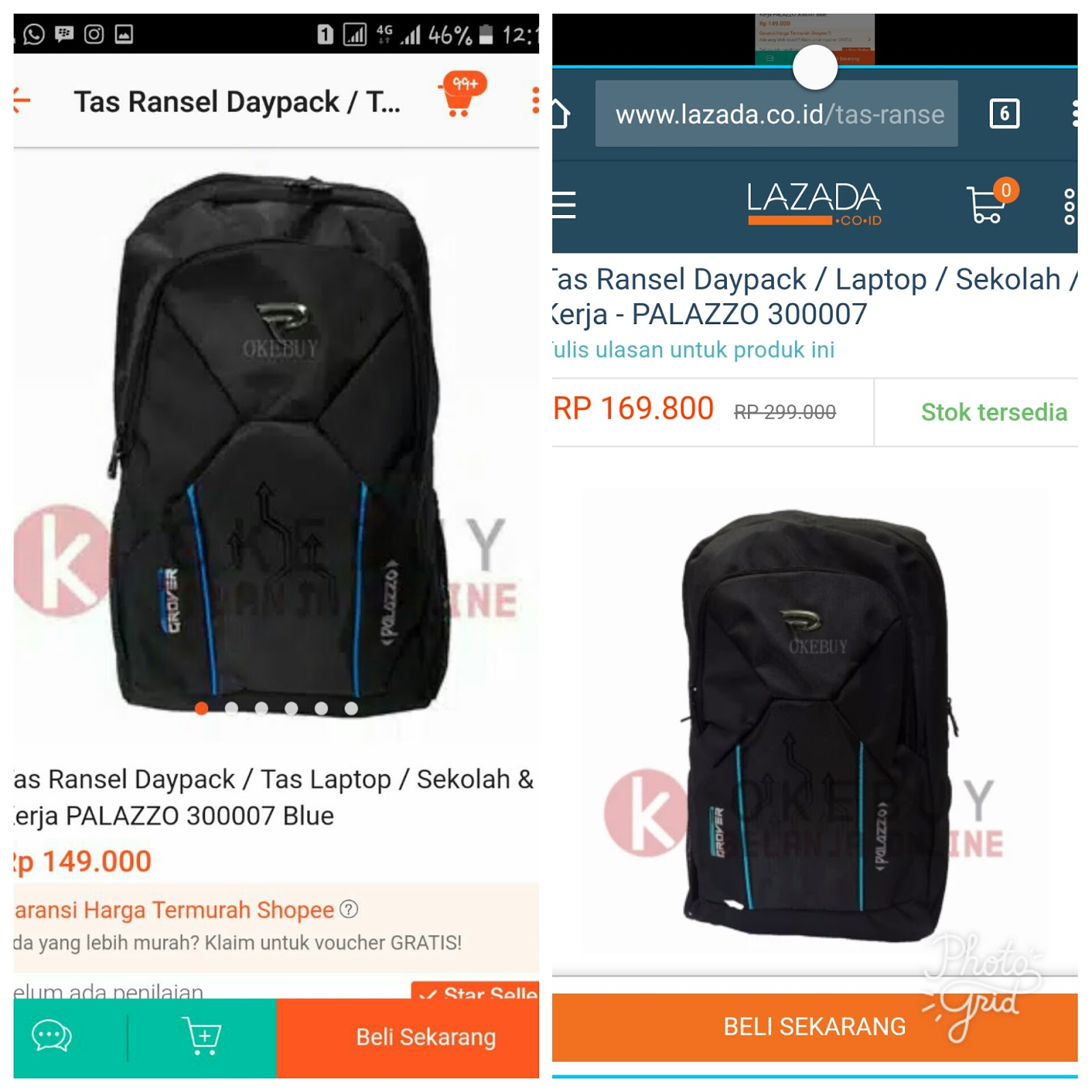 Tas Ransel Daypack Dapat Digunakan Untuk Sekoalah Dan Kerja Terdapat Tempat Leptop Bahan Berkualitas Terdiri Dari