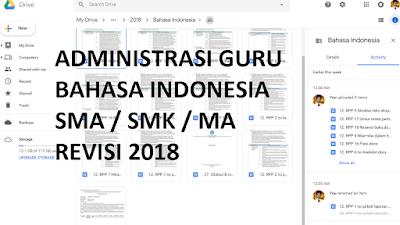Bahan Administrasi Guru Bahasa Indonesia SMA/SMK/MA Kelas X Lengkap Versi 2018
