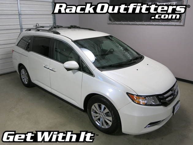 rack outfitters honda odyssey oem roof rack w rockymounts tierod fork mount bike carriers. Black Bedroom Furniture Sets. Home Design Ideas