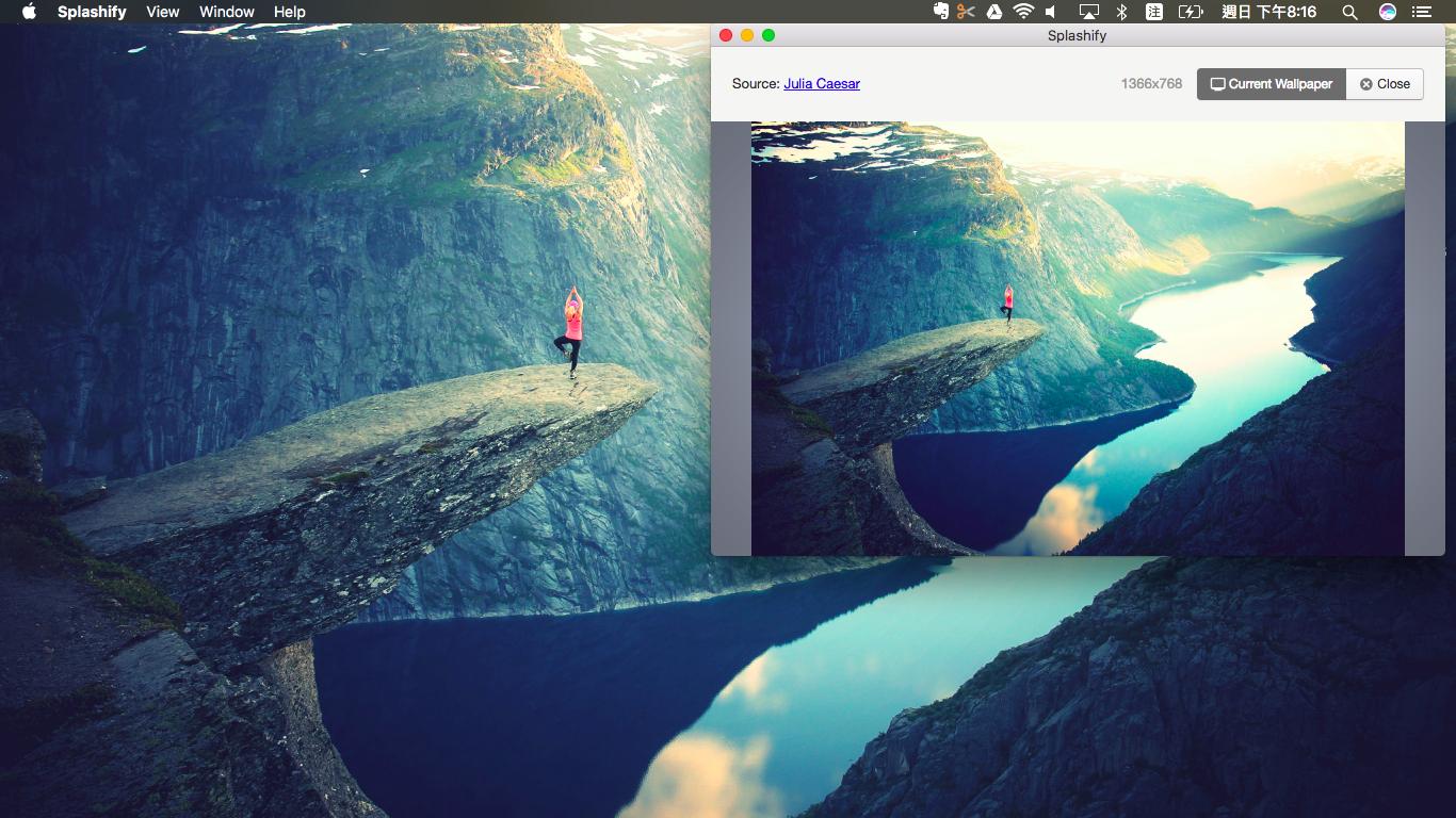 Splashify 用數千張專業攝影作品替換桌布軟體 Win 與 Mac 通用