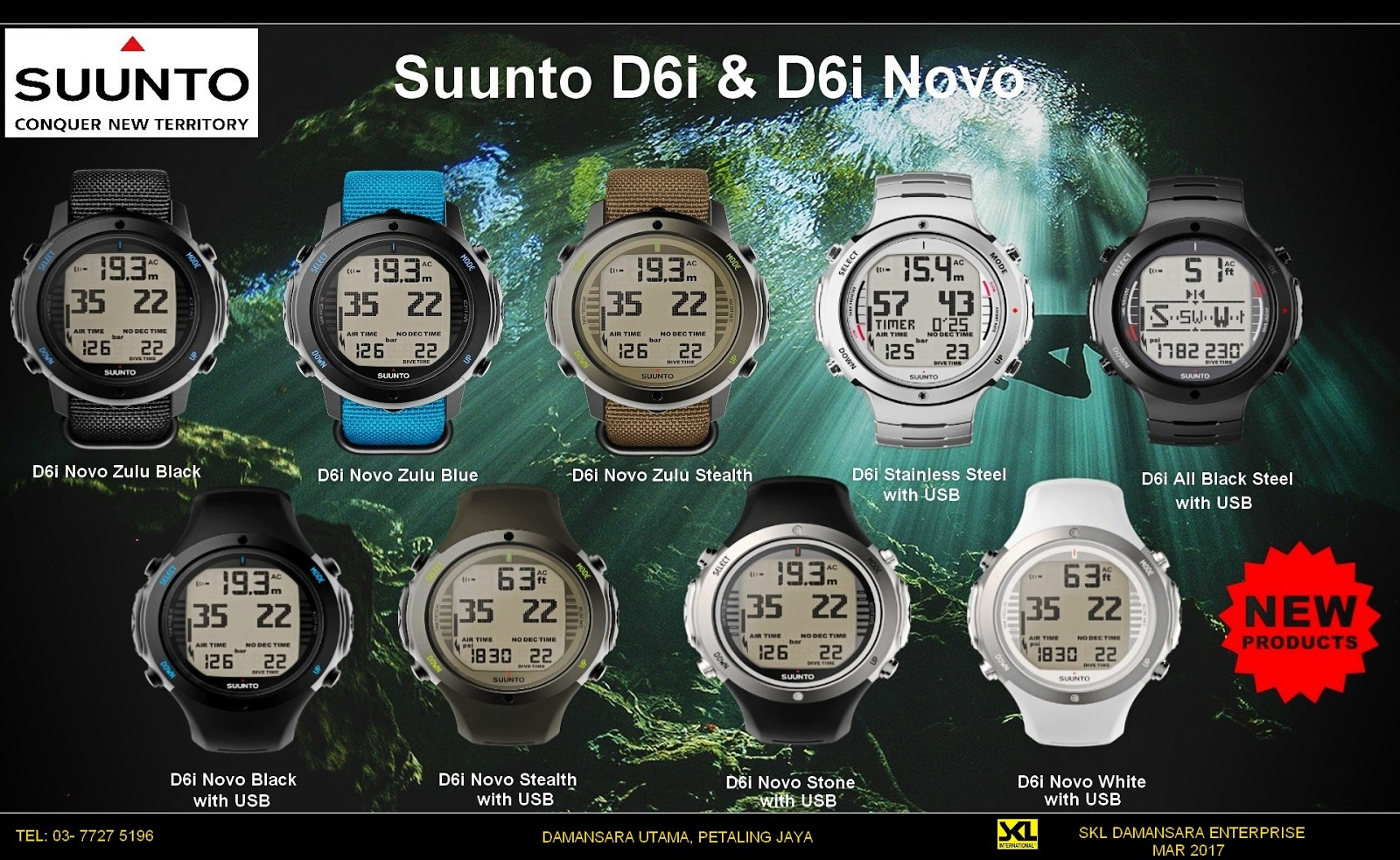 Suunto D6i Novo now available @ RM 3050
