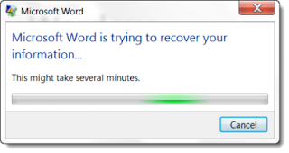 windows is trying to recover your information
