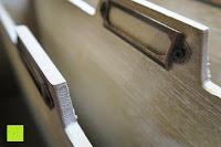 Schild: Eurosell Holz Schreibtischorganizer Brief Post Ablage Briefablage Postablage Briefständer Vintage Retro Design Designer Dokumenten Prospekte Ständer