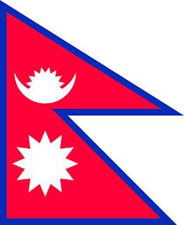 Gambar Bendera negara Nepal