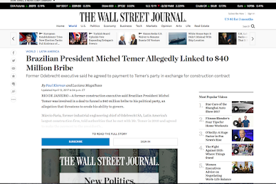 https://www.wsj.com/articles/brazil-president-michel-temer-allegedly-linked-to-40-million-bribe-1492095463