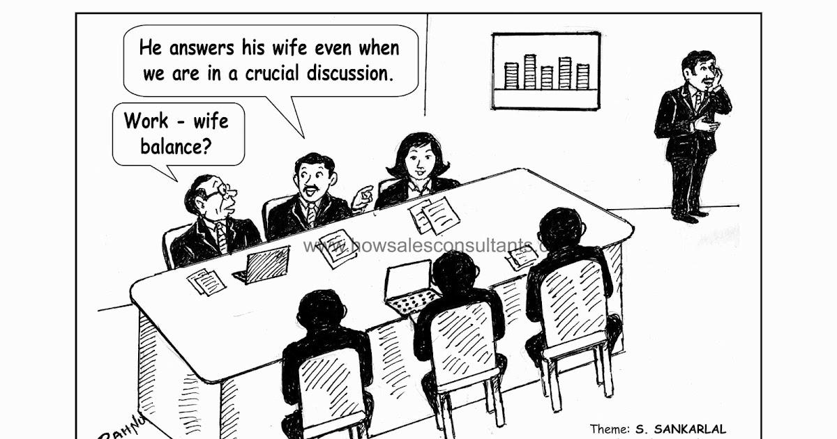 Sankarlal's Cartoons: Work L(W)ife Balance
