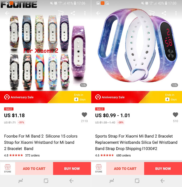 wymienne opaski Xiaomi Mi Band 2 AliExpress galaxy