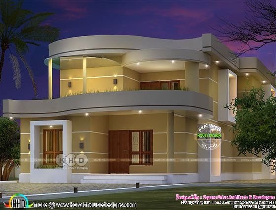 2300 square feet 4 bedroom stylish Kerala home design