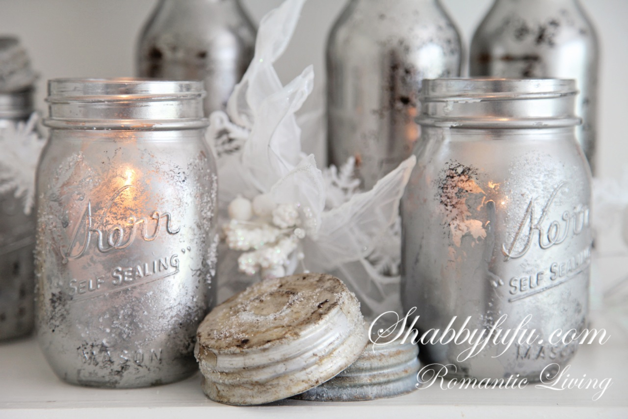 mirrored mason jars