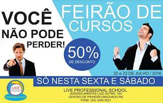 Feirão de Cursos LIVE, nesta sexta e sábado