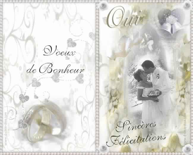 Fabuleux Carte d'invitation de mariage gratuite imprimer – Meilleur  GH41