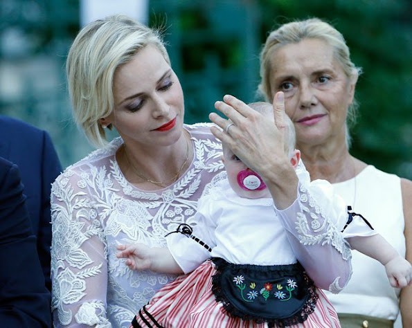 Princess Charlene of Monaco, Princess Gabriella of Monaco and Prince Jacques of Monaco