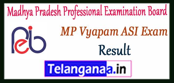 MP Madhya Pradesh Vyapam ASI Result 2017 Subedar Stenographer Merit List