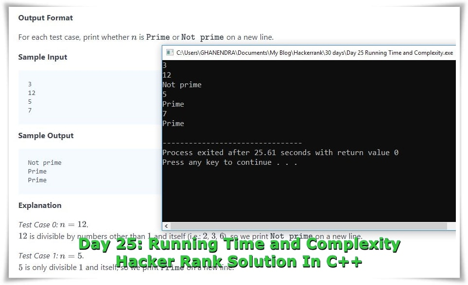 Running Time and Complexity Solution In C++