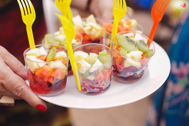 Comida para festa no verão