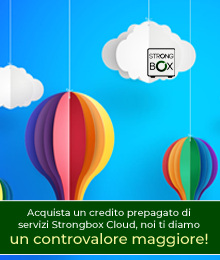 OFFERTA DEL MESE STRONGBOX CLOUD