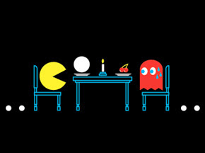 pacman last supper t-shirt