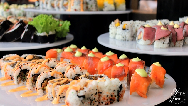 Sushi, Maki, Sashimi Buffet at Spectrum Fairmont Hotel Makati Manila PH