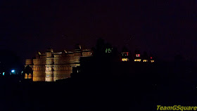 Lit Gwalior Fort during Light and Sound Show