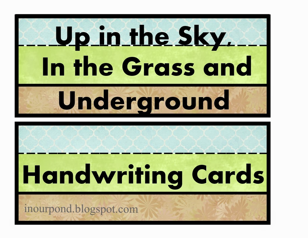 Sky Land Dirt Handwriting Cards