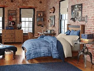 habitación rústica moderna