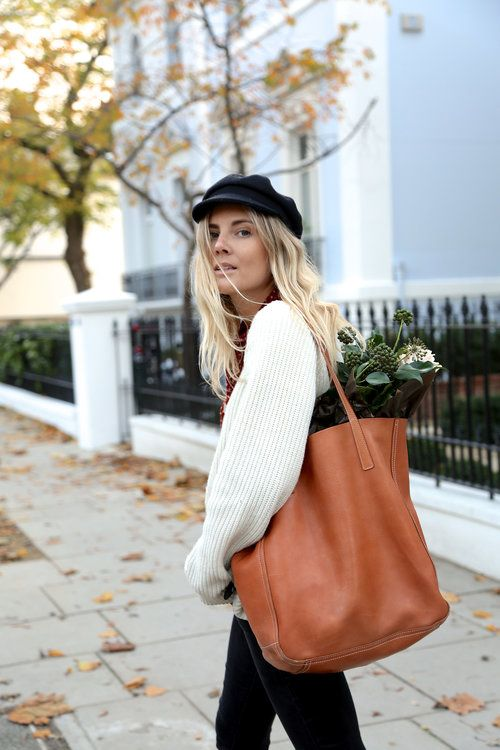baker boy hat autumn winter street style look