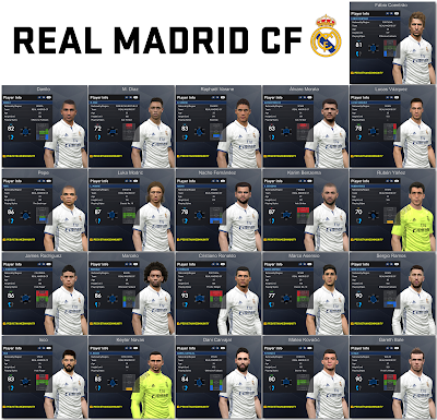 PES 2017 Real Madrid Facepack 1.0 by Tran Ngoc
