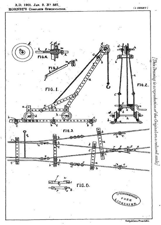Meccano Patent 1901